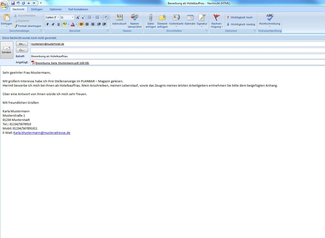 Kurzbewerbung Per E Mail Bewerbungsformular Und Karriere App 3