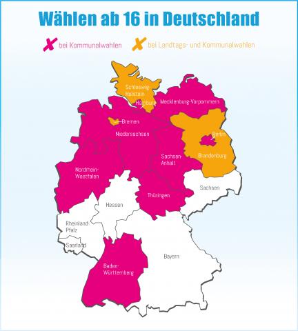Mach´s ab 16! - Übersicht Deutschland