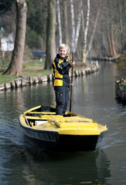 Postzustellerin Andrea Bunar stakt in die neue Saison