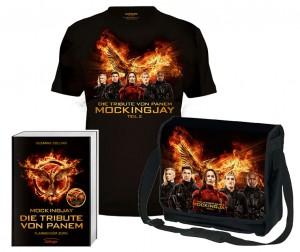 Preise GewinnspielTribute von Panem Mockingjay Teil 2 Buch T-Shirt Tasche