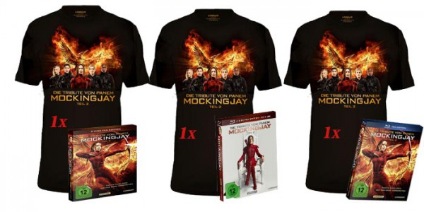 Gewinnspiel: Blu-ray, DVD und T-Shirt von Die Tribute von Panem Mockingjay Teil 2