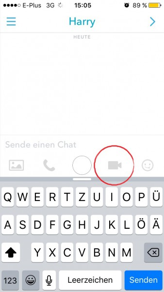Snapchat Vines und Videochat