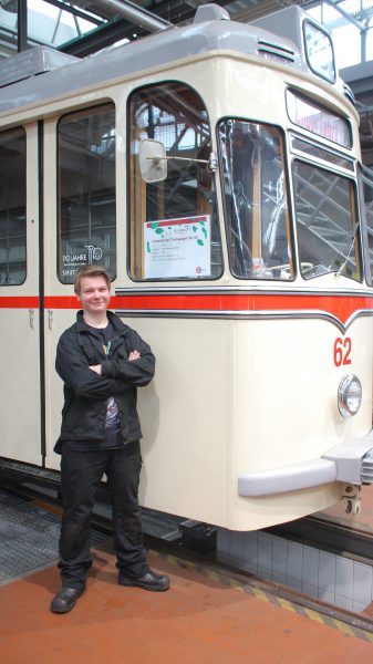 Tor Gunnar vor der Oldy Bahn