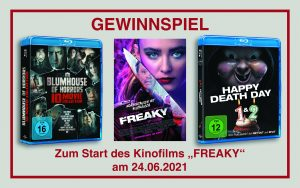 Gewinnspiel zum Kinostart von FREAKY am 24.06.2021
