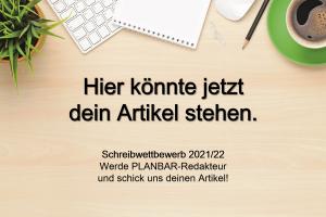 Gewinnspiel: PLANBAR Schreibwettbewerb 2021-2022